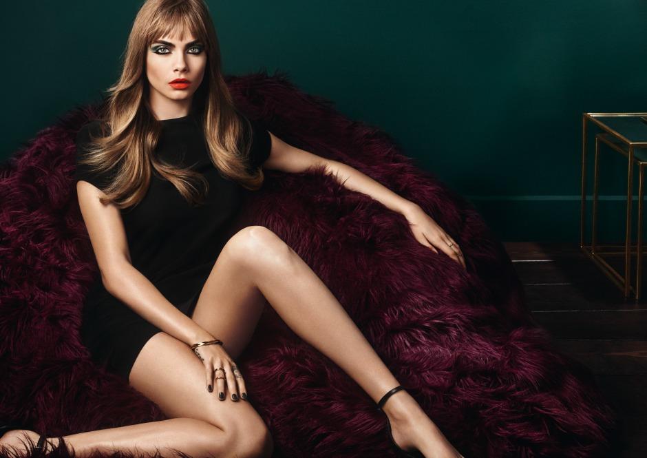 Кара Делевинь стала лицом коллекции макияжа YSL