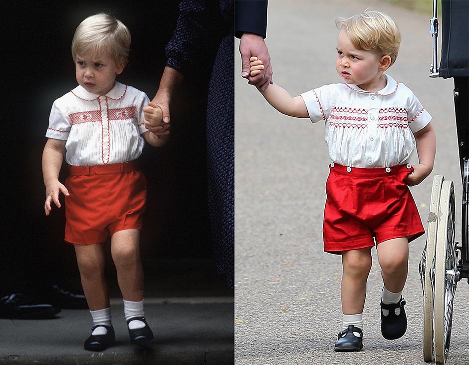Принц Уильям в 1984 году / Принц Георг в 2015 году