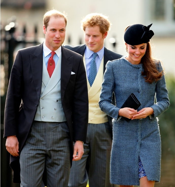Принц Уильям, принц Гарри и Кейт Миддлтон