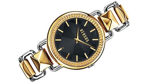 Часы Coconut Grove, черное, белое и желтое золото, Versus, цена по запросу.