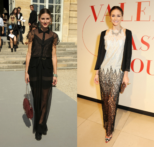 Olivia Palermo прозрачные платья