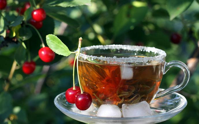 Вишневый холодный чай 1