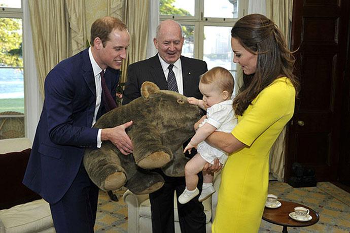 Уильям, кейт и Георг