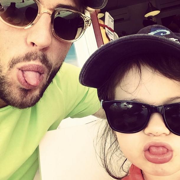 Алекс Смерфит с дочерью
