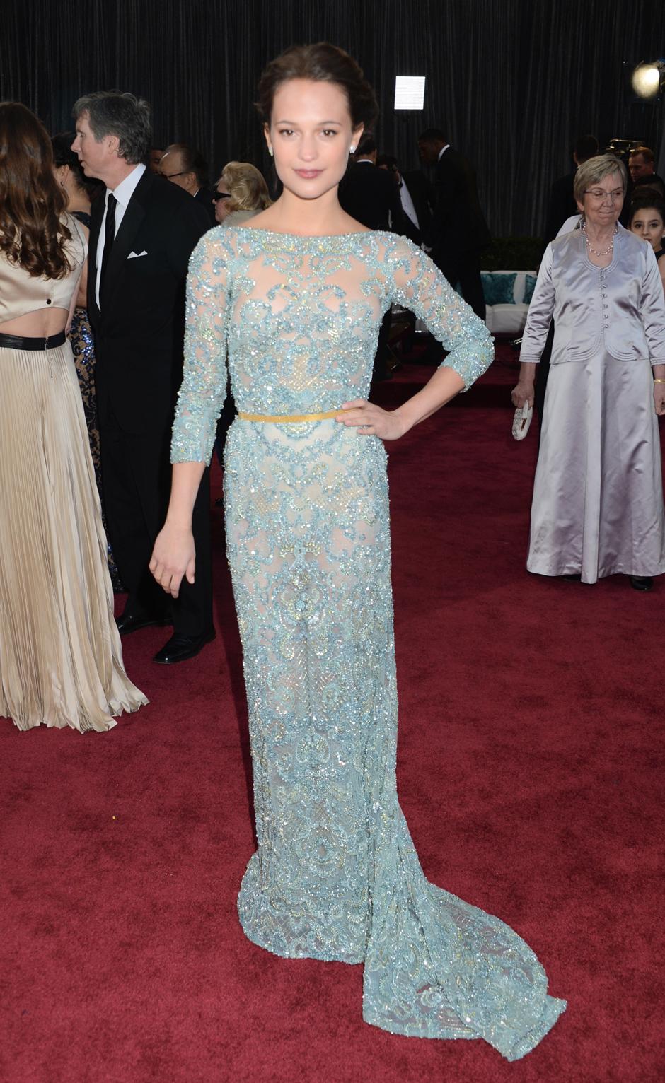 "Алисия Викандер на церемонии ""Оскар""-2013"