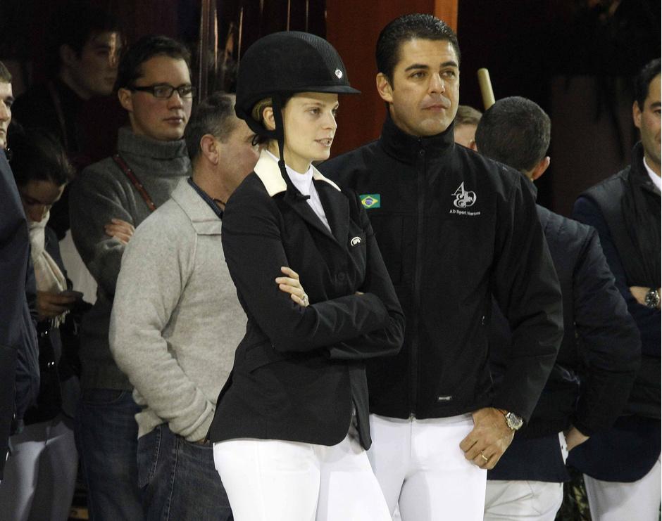 Афина Руссель-Онассис с бывшим мужем