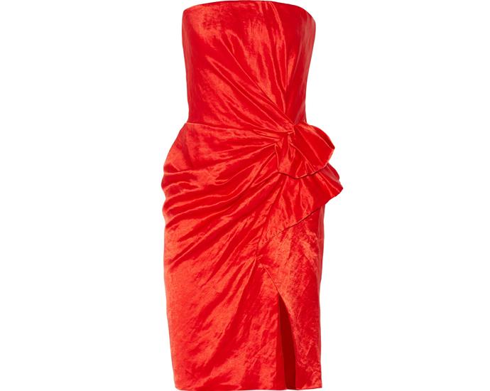 Красное платье Lanvin
