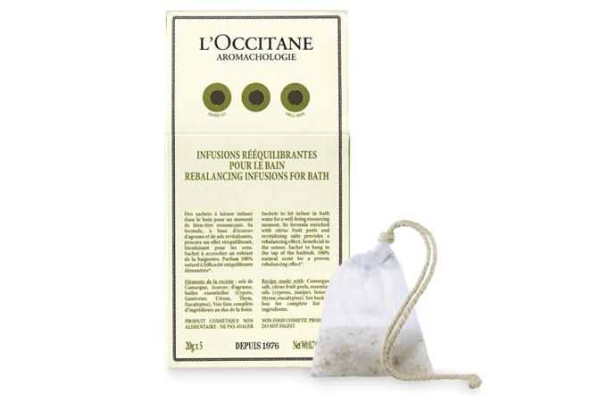 Ароматные саше для ванны Aromachologie «Восстанавливающая линия» от L'Occitane