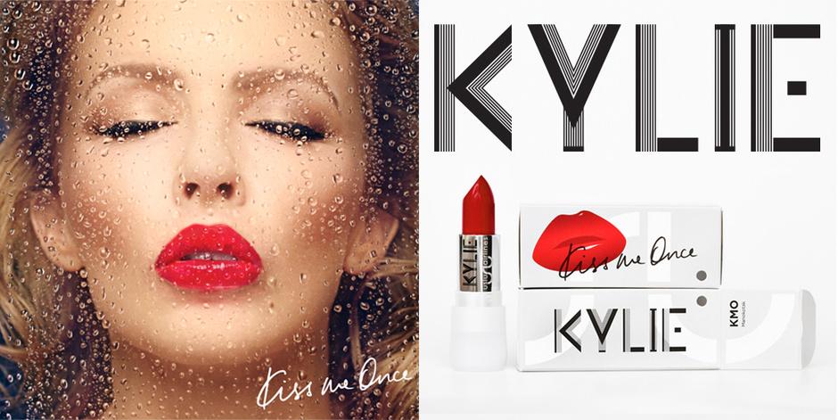 Помада в честь запуска нового альбома Кайли Миноуг «Kiss me Once»
