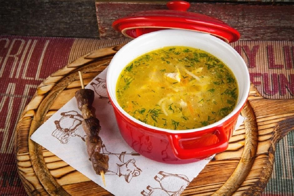 Суп с куриными сердечками и лапшой рецепт