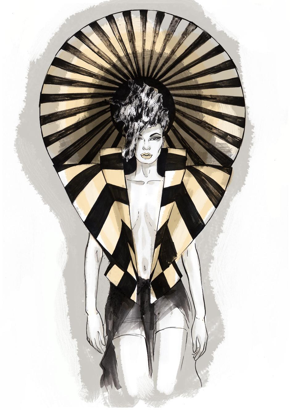 Неделя моды в Лондоне в иллюстрациях