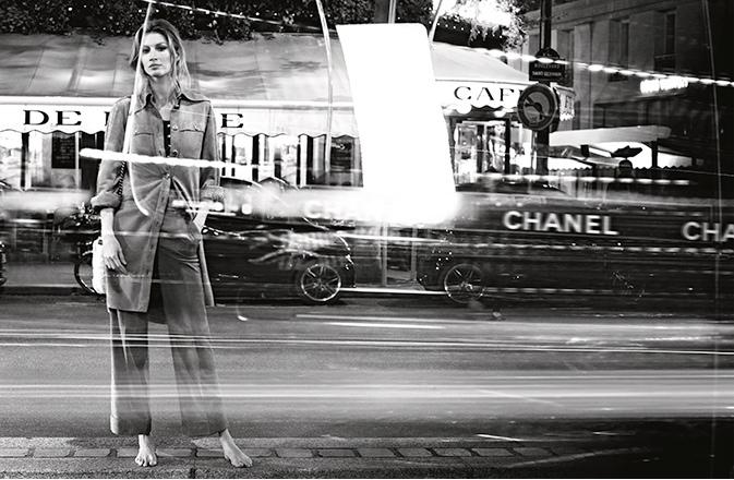 Рекламная кампания с Жизель Бюндхен