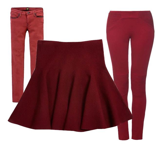 Выбор ELLE: джинсы Lee, юбка Asos, брюки Hoss Intropia (Brand in Trend)