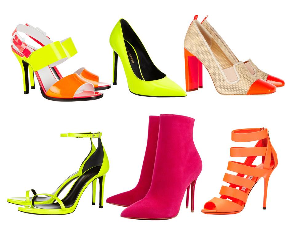 Неон Модная обувь сезона весна лето 2014: тренды, фото лучших моделей.