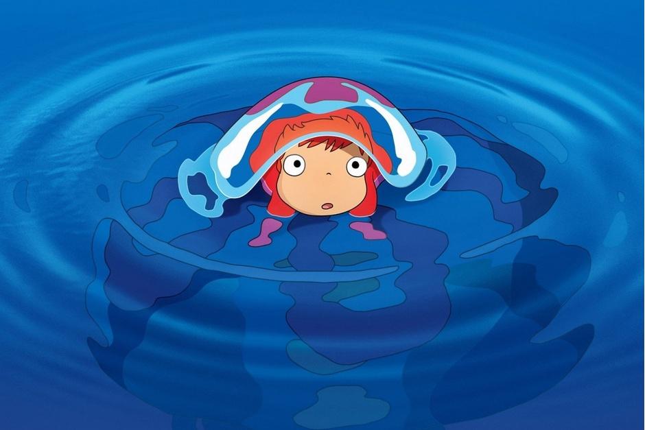 «Рыбка Поньо на утесе», (Gake no ue no Ponyo)
