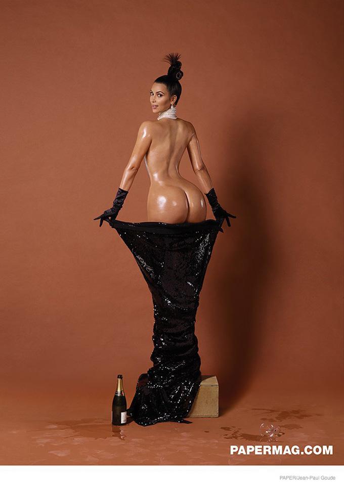 Ким Кардашьян в фотосессии для Paper фото