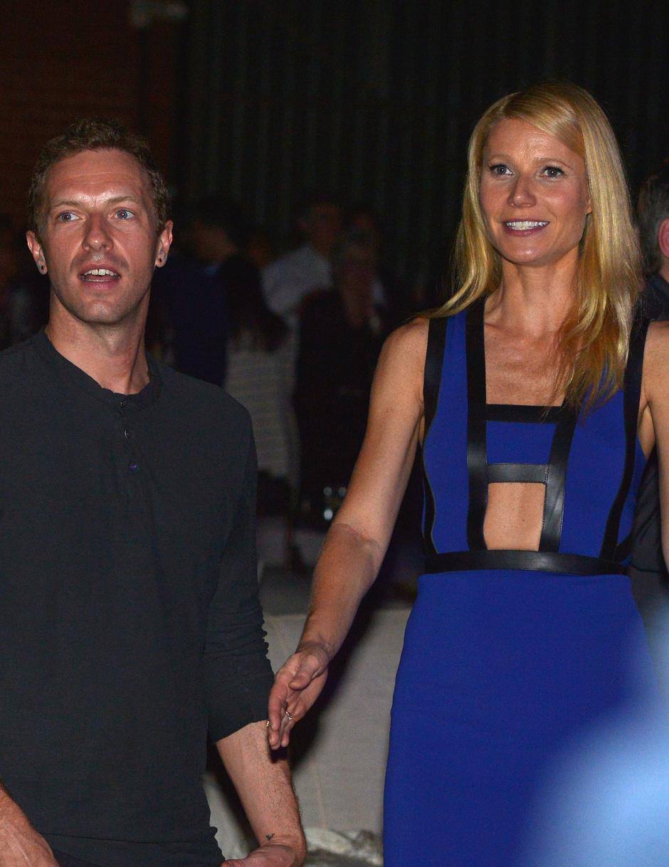 Гвинет Пэлтроу с бывшим мужем Крисом Мартином