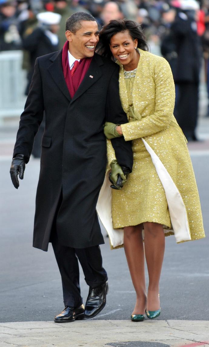 Барак и Мишель Обама в день инагурации