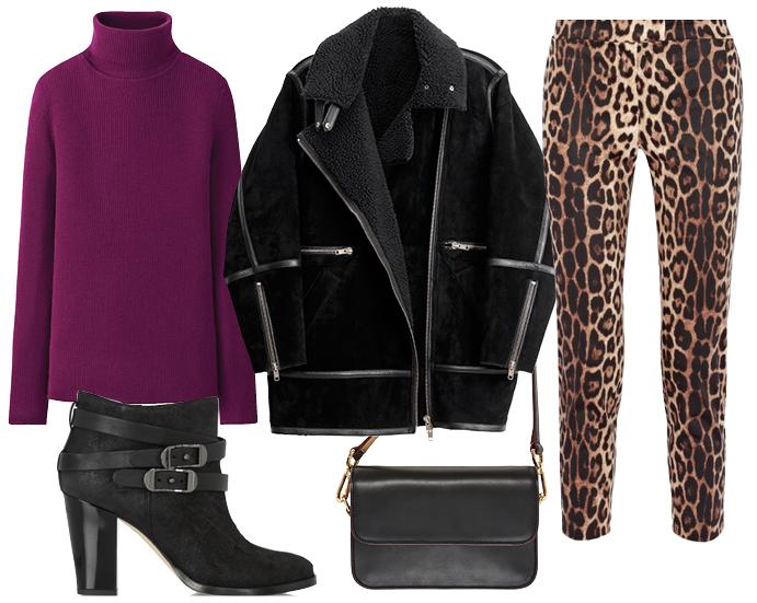 Леопардовй принт на брюках
