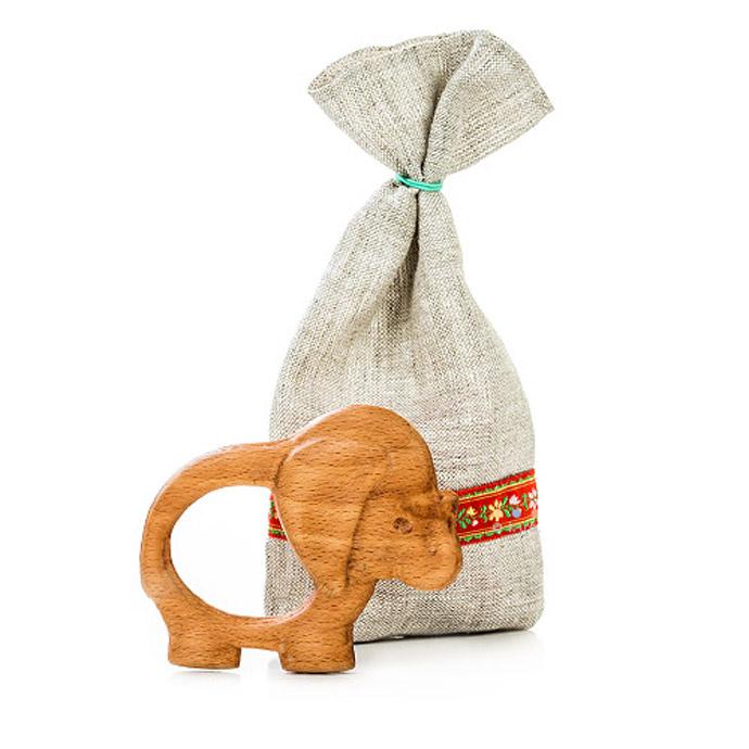 Прорезыватель-погремушка «Слоненок»
