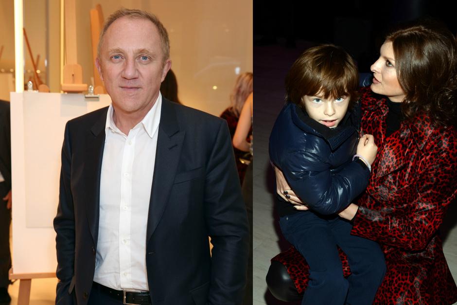 Франсуа-Анри Пино и Линда Евангелиста с сыном