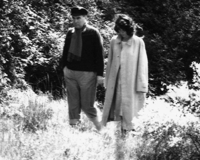 Франсуа Миттеран и Анн Пенжо