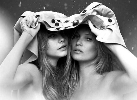 Mini me: детская версия рекламы Burberry с Кейт Мосс и Карой Делевинь