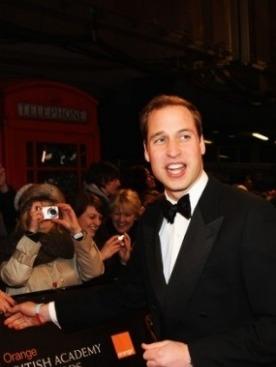 Принц Уильям на вручении наград Британской Киноакадемии BAFTA