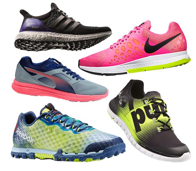 Adidas Ultra Boost, Nike Air Zoom Pegasus, PUMA Ignite, Reebok ZPump Fusion, Reebok All Terrain Super