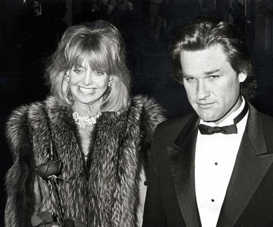 Голди Хоун и Курт Рассел в молодости