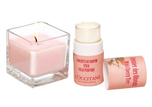 Твердые духи и ароматическая свеча из коллекции Дикая Вишня от L'Occitane