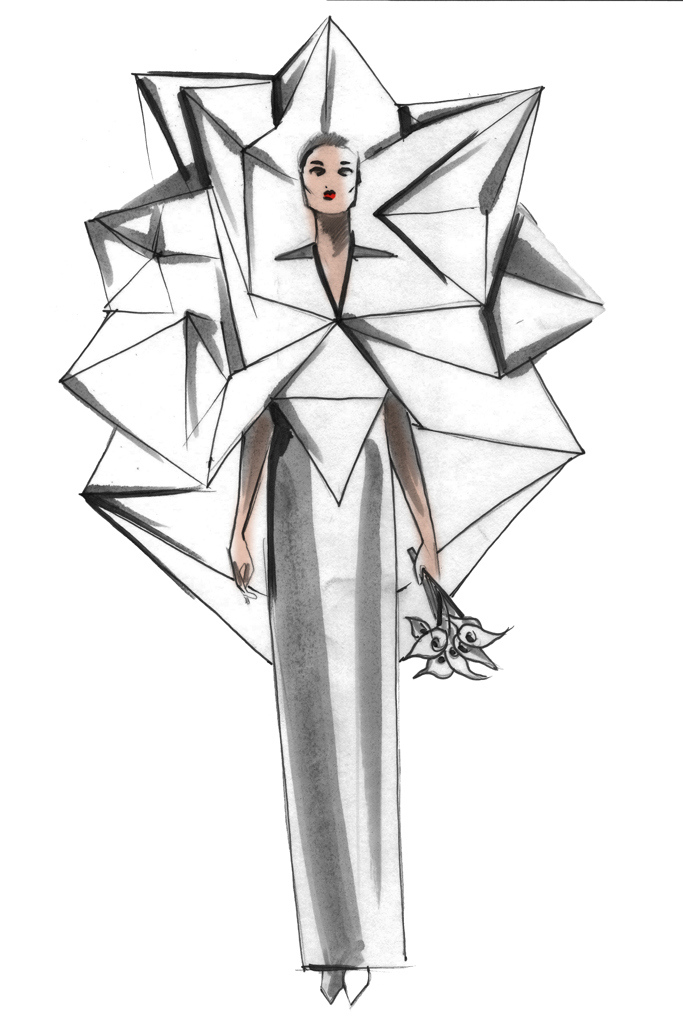 Свадебное платье Леди Гага от Charles Youssef