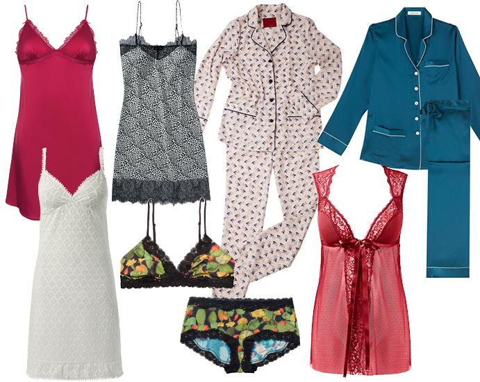 Сорочка Incanto, сорочка Etam, пижама IZBA, пижама Olivia Von Halle, белье Monki, сорочка Tezenis