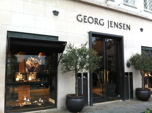 Витрина магазина Georg Jensen