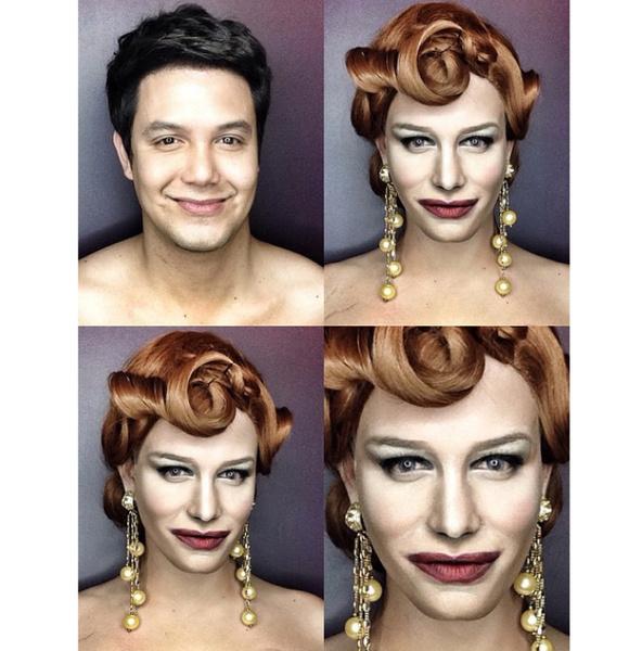 Филиппинский визажист перевоплотился в звезд с помощью макияжа | галерея [1] фото [15]