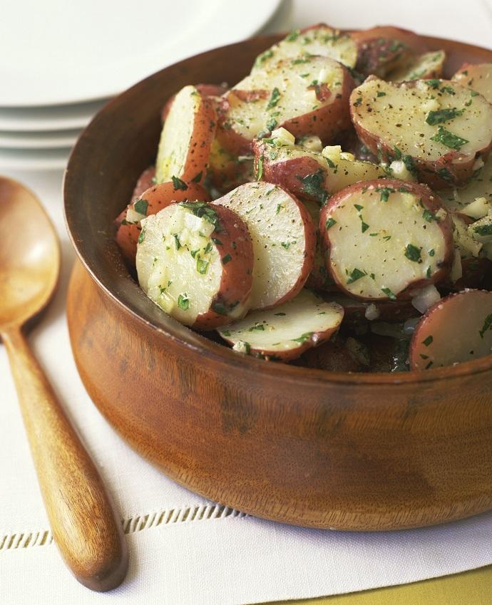 Салат из картофеля на гриле