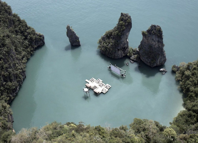 Archipilago Cinema (Южный Тайланд) плавающий кинотеатр