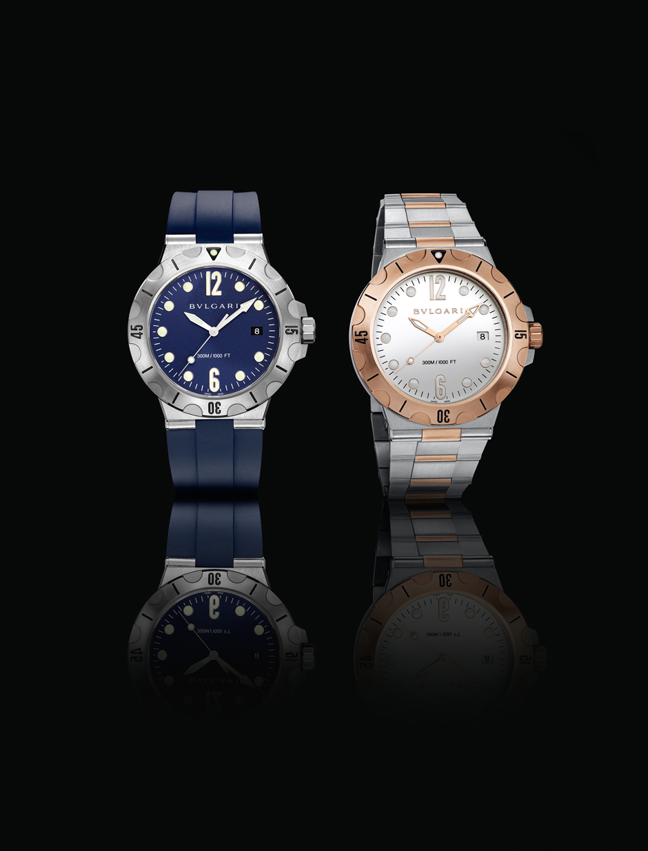 Bulgari представил две новые модели часов Diagono Scuba