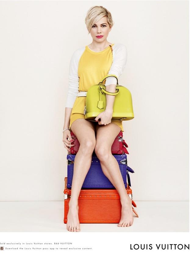 Мишель Уильямс рекламирует сумки Louis Vuitton