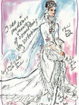 Эскиз платья от Карла Лагерфельда