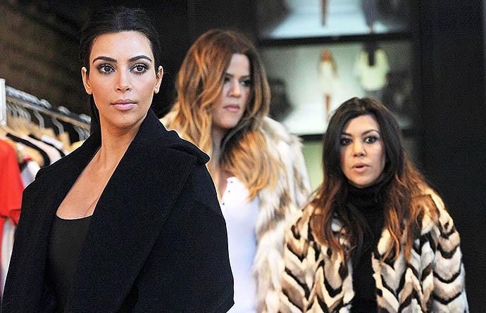 Ким, Хлои и Кортни Кардашьян
