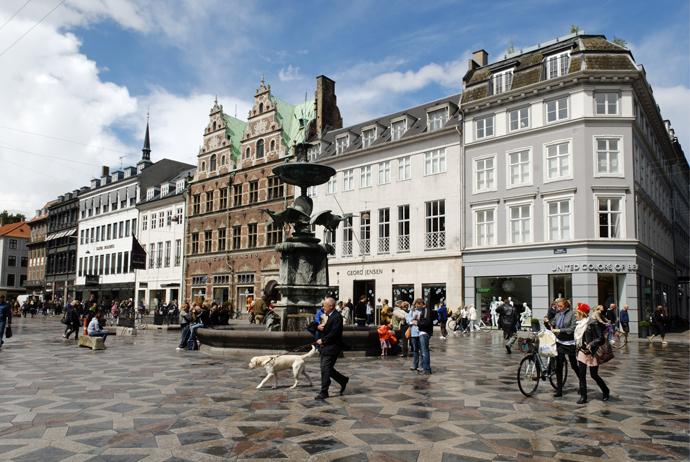 торговый променад Стрегет Копенгаген