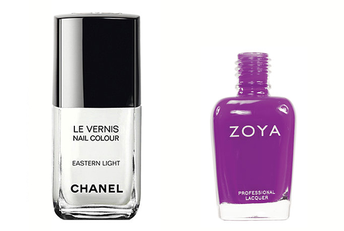 Chanel Le Vernis, оттенок Eastern Light; Zoya Nail Polish, оттенок Charisma