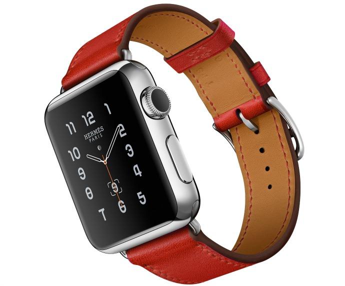 Apple Watch Hermès с кожаным ремешком цвета Capucine