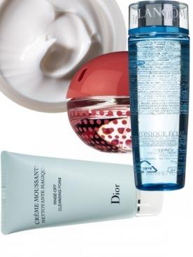 Бальзам для рук, KenzoKi. Аромат Be Delicious Fresh Blossom, DKNY.  Очищающий тоник Tonique Eclat, Lancôme. Пенка для умывания, Dior.