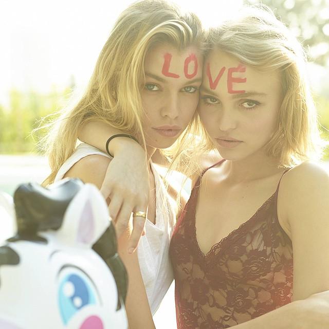 Дочь Джонни Деппа в съемке журнала Love