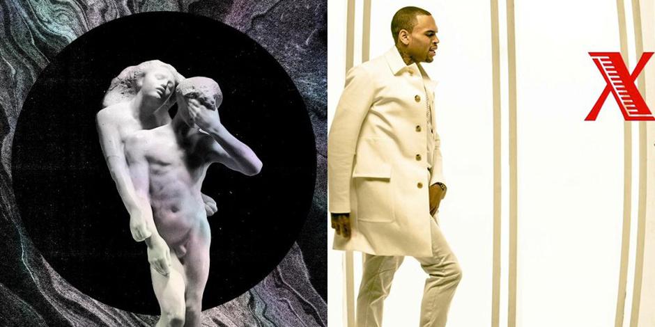 "Arcade Fire ""Reflektor"" 2013 и Крис Браун ""X"" 2013"