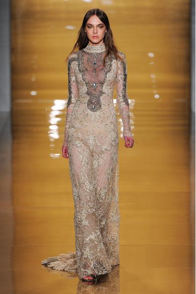 Black tie: показы Carolina Herrera, Reem Acra и Zac Posen на Неделе моды в Нью-Йорке | галерея [3] фото [11]
