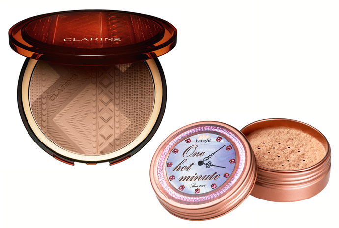 Clarins Colours of Brazil Summer Bronzing Compact; Benefit One Hot Minute Sexy in Seconds Face Powder