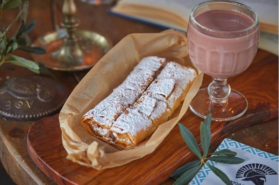 Бугаца (пирог с кремом из манки и холодным какао)